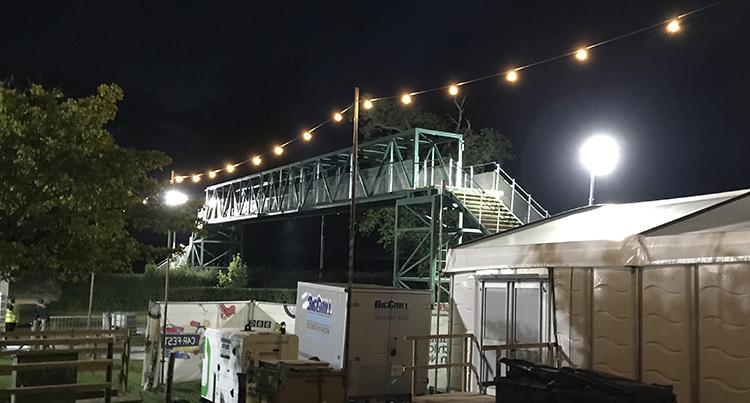 Temporary Bridge for CarFest 2017